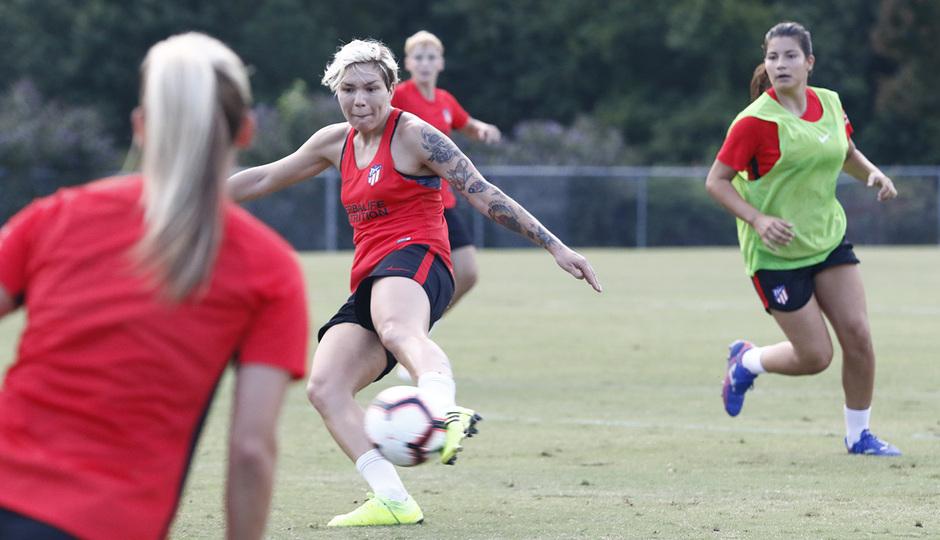 Temporada 19/20 | Entrenamiento del Atlético Femenino en Raleigh | Elena Linari