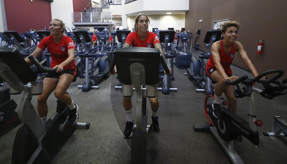 Temporada 19/20 | Entrenamiento del Atlético femenino en Raleigh | Duggan, Lola y Amanda