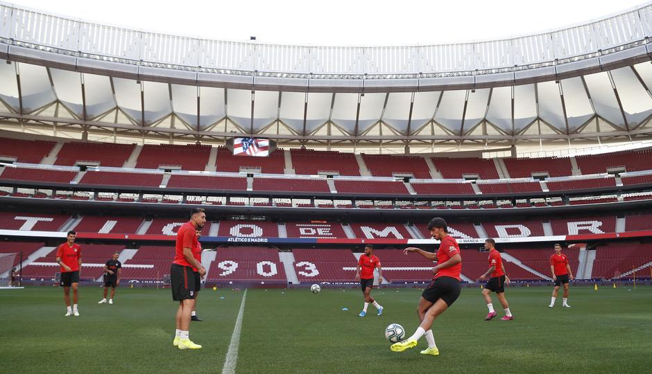 Temp. 19-20 | Entrenamiento en el Wanda Metropolitano |