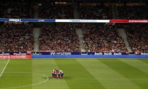 Temporada 19/20   Atleti - Getafe   Minuto de silencio