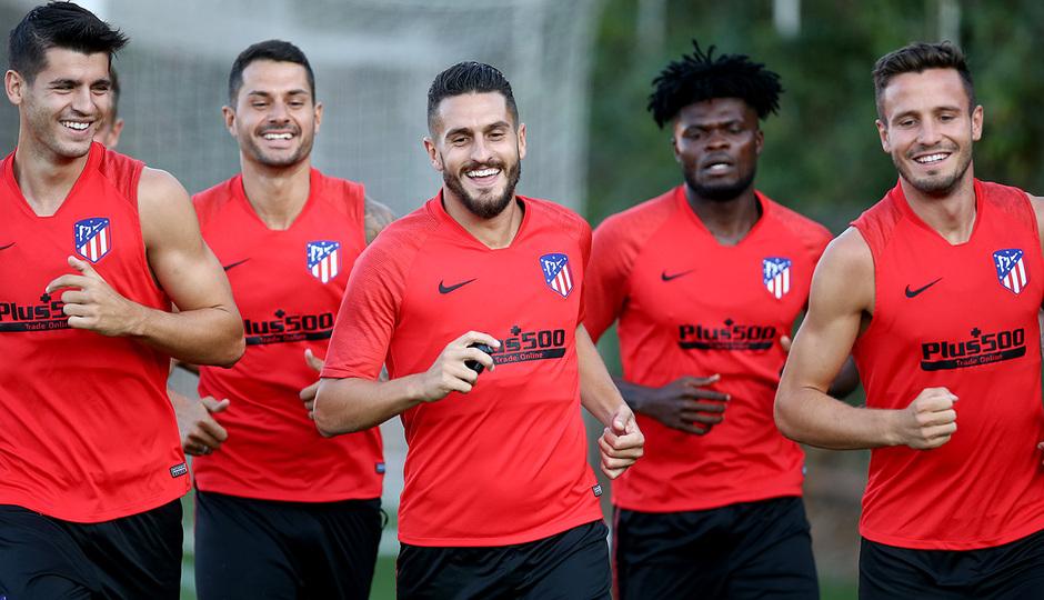 Temporada 19/20 | Entrenamiento | Morata, Vitolo, Koke, Thomas, Saúl