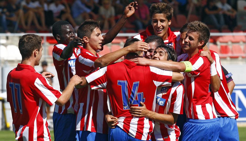 Temporada 13/14 UEFA Youth League. Partido Atlético de Madrid - Zenit.