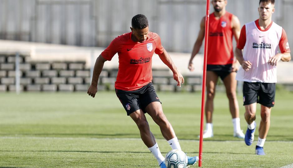 Entrenamiento en la Ciudad deportiva Wanda Atlético de Madrid 03-09-2019. Lodi.