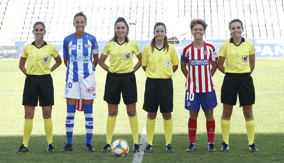 Temp. 19/20. Sporting de Huelva - Atlético de Madrid Femenino. Capitanas. Amanda Sampedro