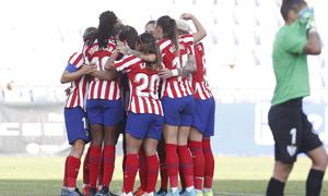 Temp. 19/20. Sporting de Huelva - Atlético de Madrid Femenino. Celebración