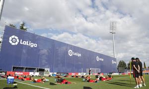Entrenamiento en la Ciudad deportiva Wanda Atlético de Madrid 12-09-2019.