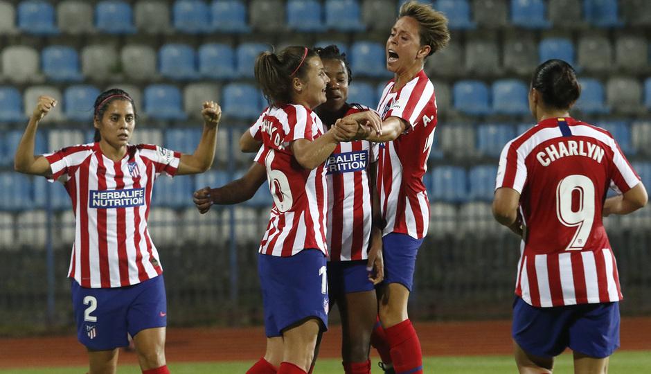 Temporada 19/20 | Spartak Subotica - Atlético de Madrid Femenino | Celebración