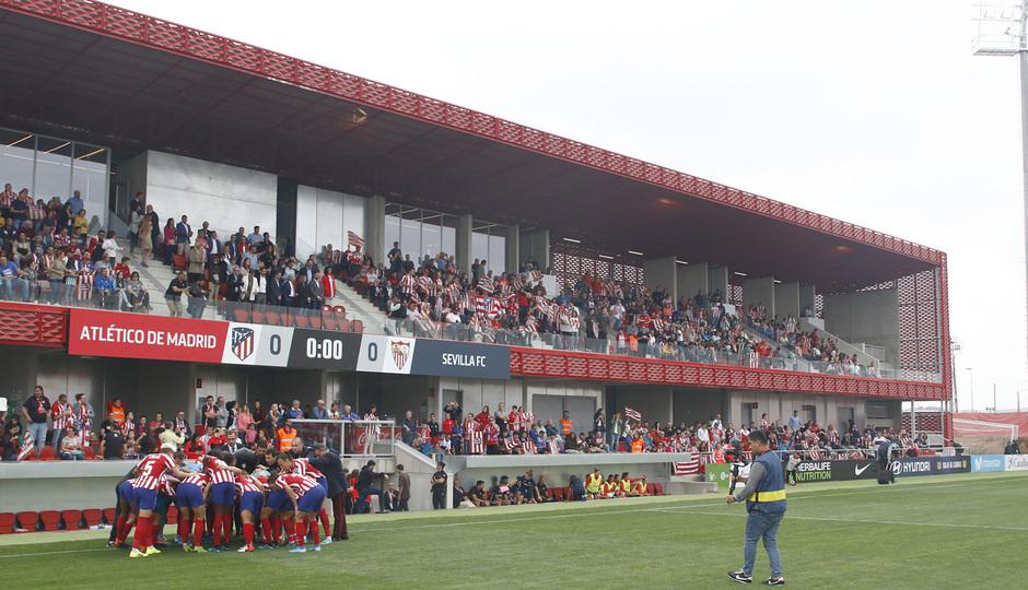 Temp. 19/20. Atlético de Madrid Femenino - Sevilla FC. Centro Deportivo Wanda Alcalá de Henares. Ambiente.