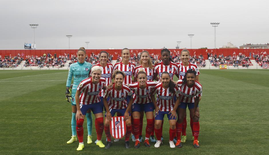 Temp. 19/20. Atlético de Madrid Femenino - Sevilla FC. Centro Deportivo Wanda Alcalá de Henares. Once.