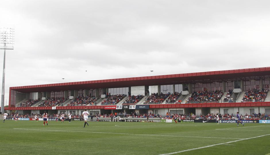 Temp. 19/20. Atlético de Madrid Femenino - Sevilla FC. Centro Deportivo Wanda Alcalá de Henares. Ambiente