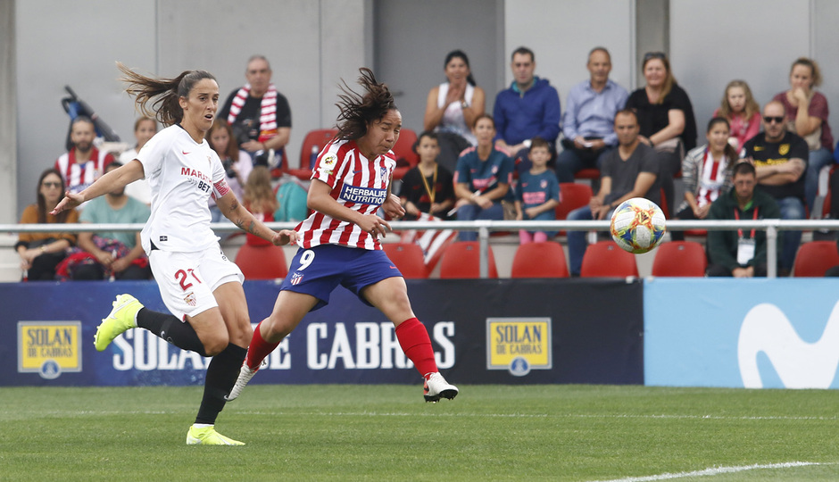 Temp. 19/20. Atlético de Madrid Femenino - Sevilla FC. Centro Deportivo Wanda Alcalá de Henares. Charlyn.