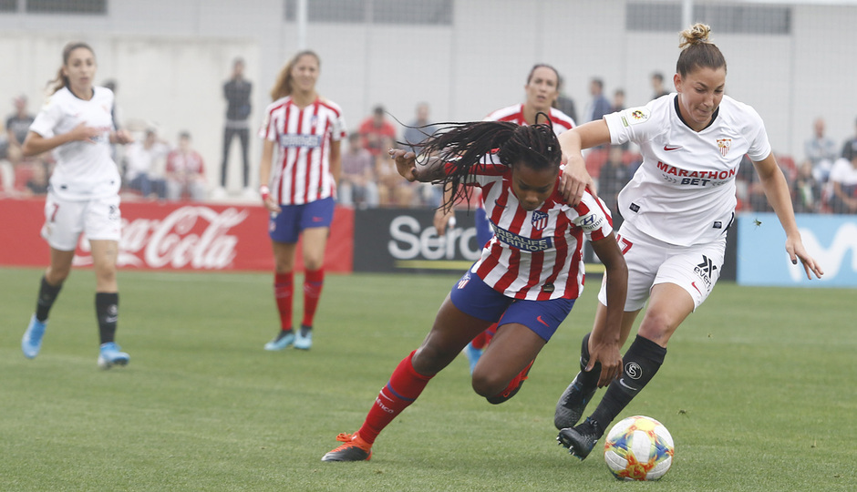 Temp. 19/20. Atlético de Madrid Femenino - Sevilla FC. Centro Deportivo Wanda Alcalá de Henares. Ludmila.