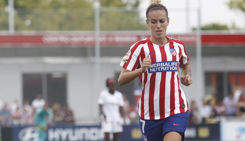 Temp. 19/20. Atlético de Madrid Femenino - Sevilla FC. Centro Deportivo Wanda Alcalá de Henares. Sosa