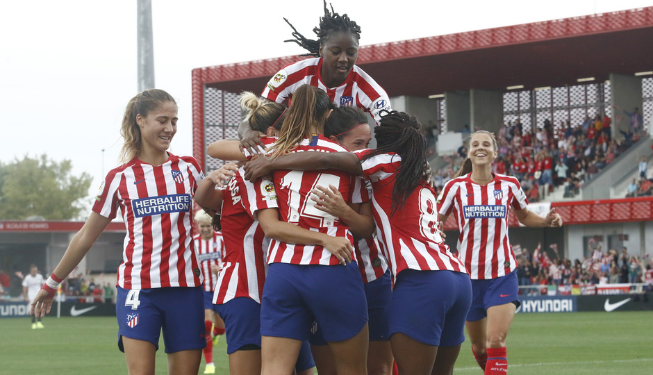 Temp. 19/20. Atlético de Madrid Femenino - Sevilla FC. Centro Deportivo Wanda Alcalá de Henares. Gol Ángela Sosa.