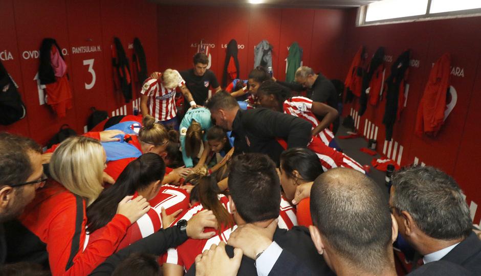 Temp. 19/20. Atlético de Madrid Femenino - Sevilla FC | Vestuario