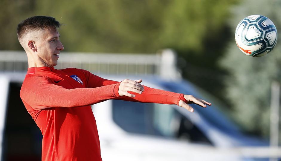 Entrenamiento en la Ciudad deportiva Wanda Atlético de Madrid 15-10-2019. Saponjc