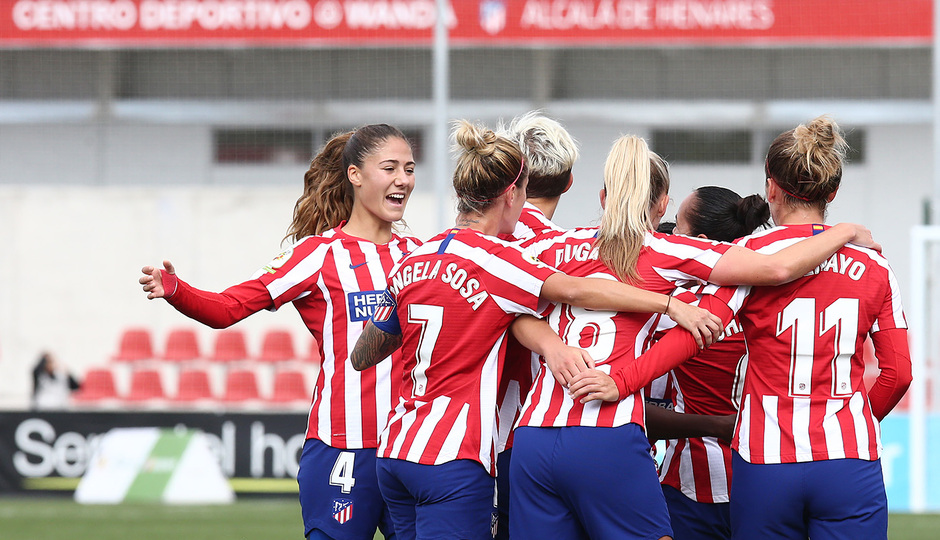 Temp. 19-20 | Atlético de Madrid Femenino - Madrid CFF | Celebración piña