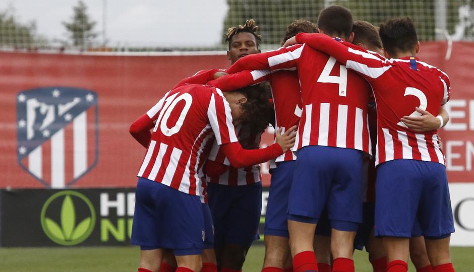 Temp. 19-20 | Youth League | Atlético de Madrid Juvenil A - Bayer Leverkusen | Celebración