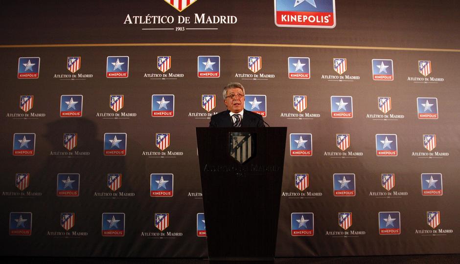 Temporada 13/14. Firma de acuerdo entre Atlético de Madrid y Kinépolis