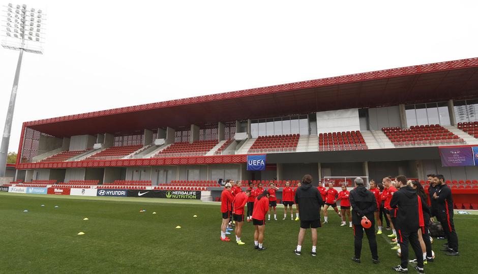 Temporada 19/20 | Atlético de Madrid Femenino | Entrenamiento en el Centro Deportivo Wanda Alcalá de Henares previo al partido de Women's Champions League |