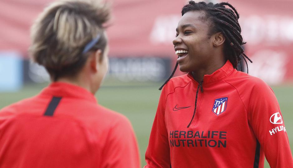 Temporada 19/20 | Atlético de Madrid Femenino | Entrenamiento en el Centro Deportivo Wanda Alcalá de Henares previo al partido de Women's Champions League | Ludmila