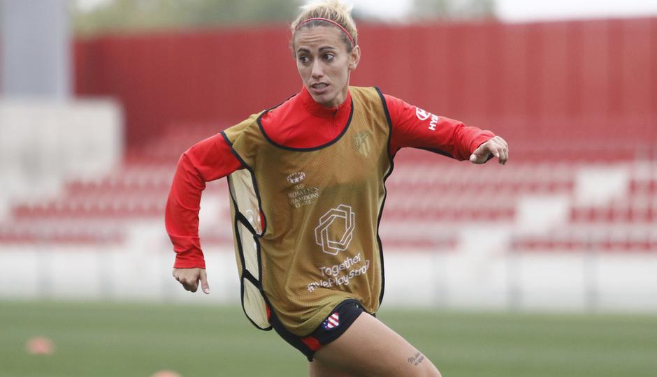 Temporada 19/20 | Atlético de Madrid Femenino | Entrenamiento en el Centro Deportivo Wanda Alcalá de Henares previo al partido de Women's Champions League | Ángela Sosa