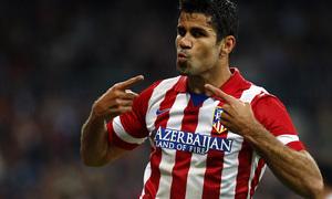Temporada 2013/2014 Real Madrid - Atlético de Madrid Diego Costa celebrando el gol