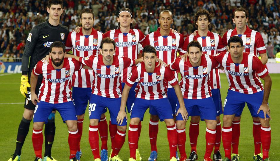 Temporada 2013/2014 Real Madrid - Atlético de Madrid Once inicial en el Santiago Bernabéu