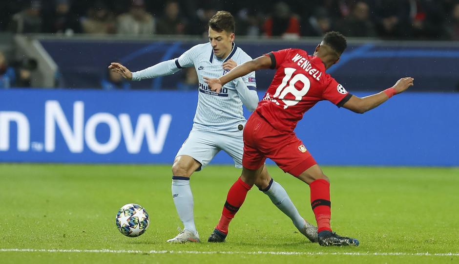 Temp. 19/20   Bayer Leverkusen-Atlético de Madrid   Arias