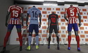 Temporada 19/20   Acto en el auditorio del Wanda Metropolitano   Ria, nuevo patrocinador del equipo