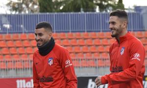 Temporada 19/20 Entrenamiento Primer Equipo.09/11/2019 koke, Correa