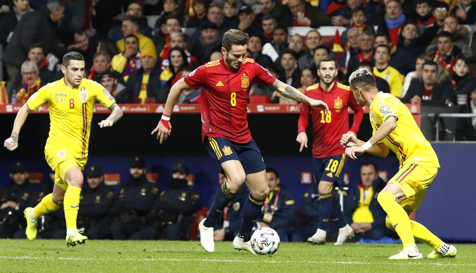 Temporada 19/20. España-Rumanía en el Wanda Metropolitano. Saúl