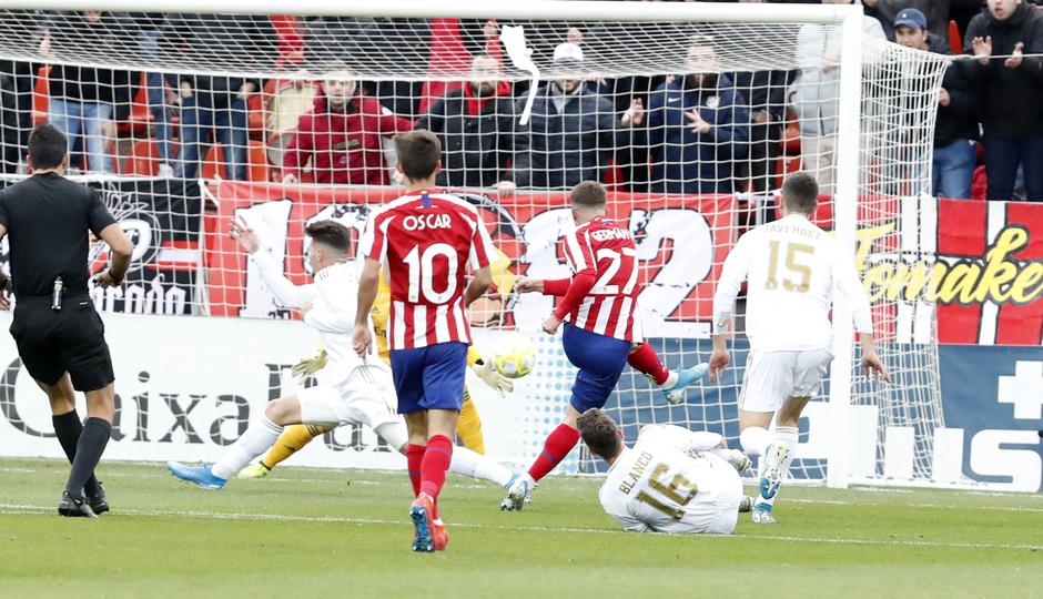 Temp. 2019/2020. Atlético de Madrid B - Castilla. Gol de Valera