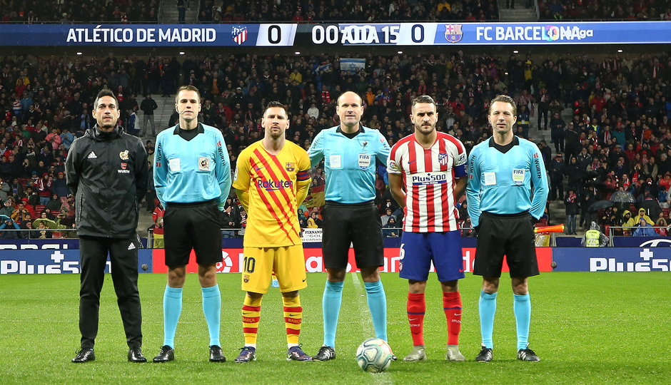 Temp. 19-20 | Atlético de Madrid-Barcelona | Capitanes y árbitros