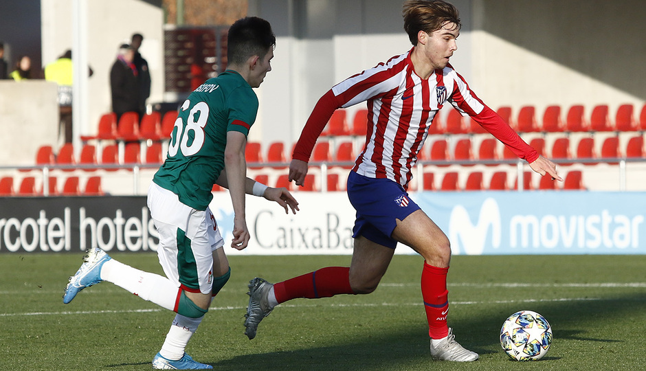 Temporada 19/20. Youth League. Atlético de Madrid Juvenil A - Lokomotiv. Ajenjo