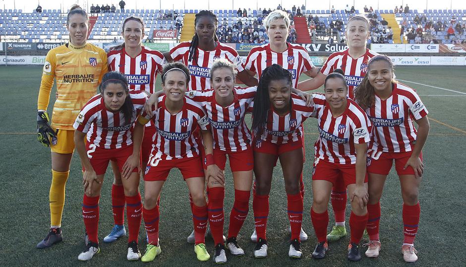 Temporada 18/19 | Granadilla Tenerife - Atlético de Madrid Femenino | Once