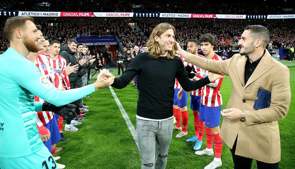 Temporada 19/20. Atleti - Levante | Homenaje Filipe