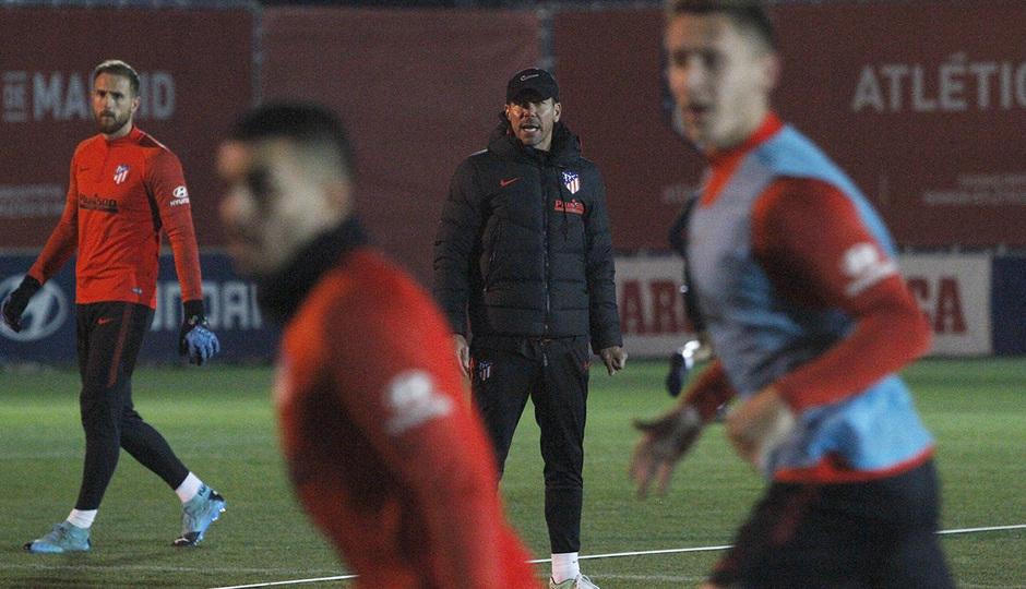 Temporada 19/20 | 06/01/2020 | Entrenamiento del primer equipo en la Ciudad Deportiva Wanda | Simeone