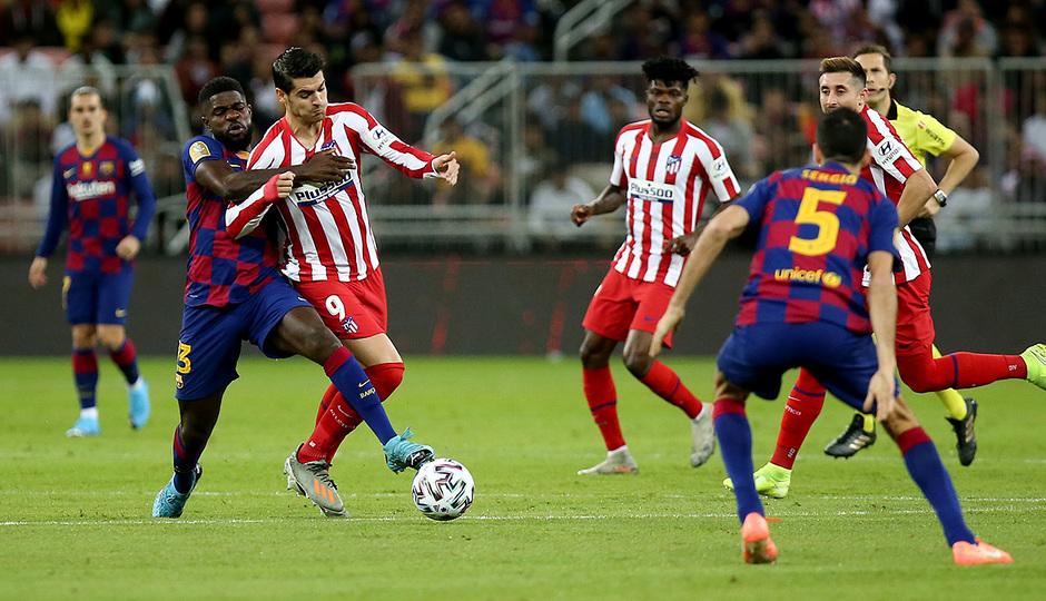 Temp. 19-20   Supercopa de España   FC Barcelona - Atlético de Madrid   Morata