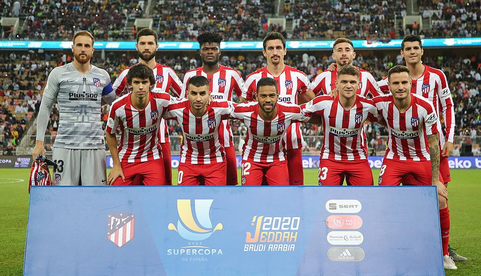 Temp. 19-20   Supercopa de España   FC Barcelona - Atlético de Madrid   Once