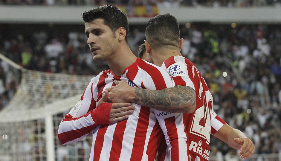 Temp. 19-20 | Supercopa de España | FC Barcelona - Atlético de Madrid | Celebración Morata
