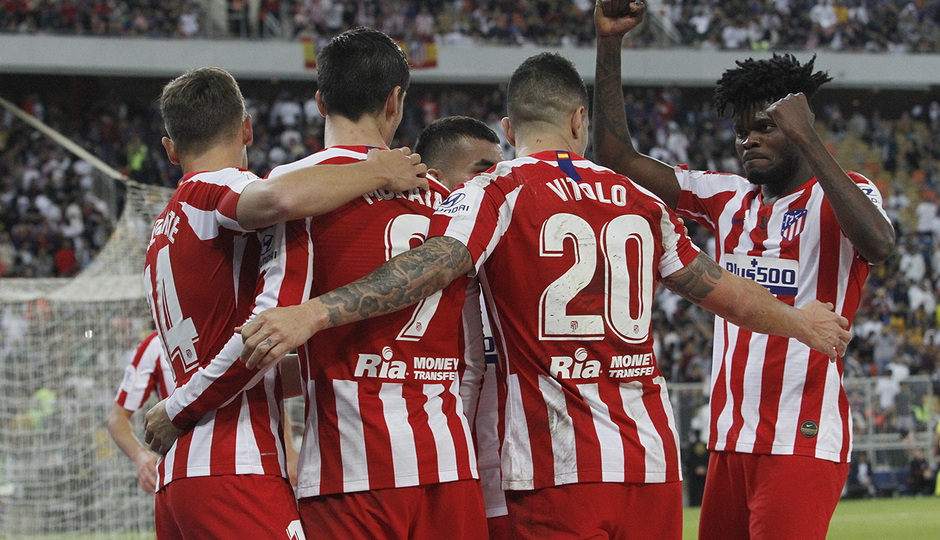 Temp. 19-20   Supercopa de España   FC Barcelona - Atlético de Madrid   Celebración