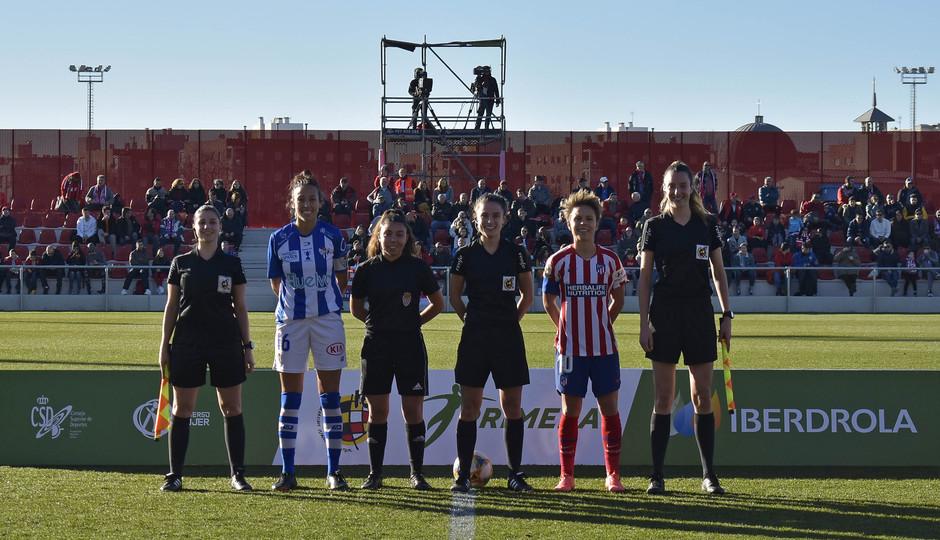 Temporada 19/20 | Atlético de Madrid Femenino - Sporting de Huelva. Capitanas