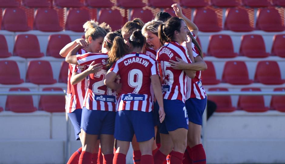 Temporada 19/20 | Atlético de Madrid Femenino - Sporting de Huelva. Celebración