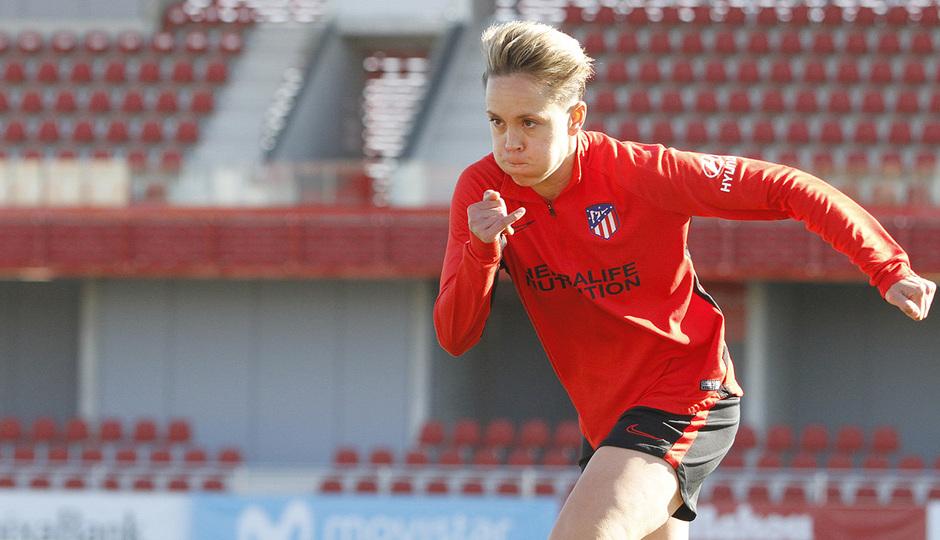 Temporada 19/20 | Entrenamiento del femenino en el Centro Deportivo Wanda Alcalá de Henares | Amanda