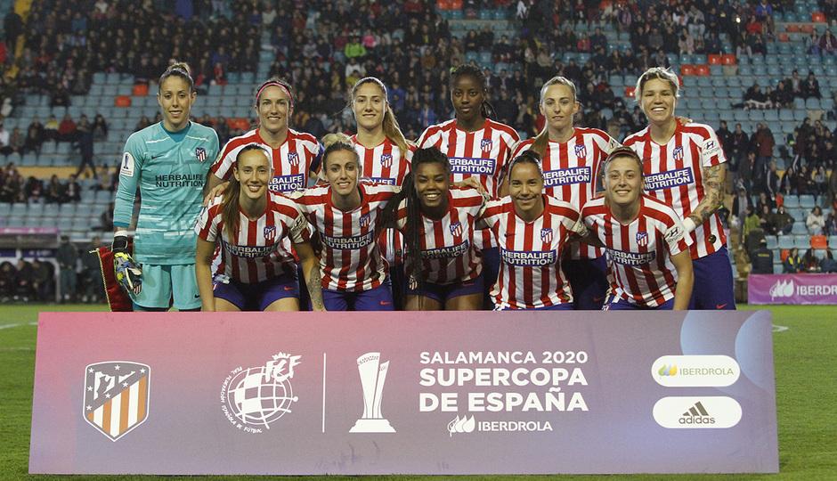 Temporada 19/20   Supercopa   Atlético de Madrid Femenino - Barcelona   Once
