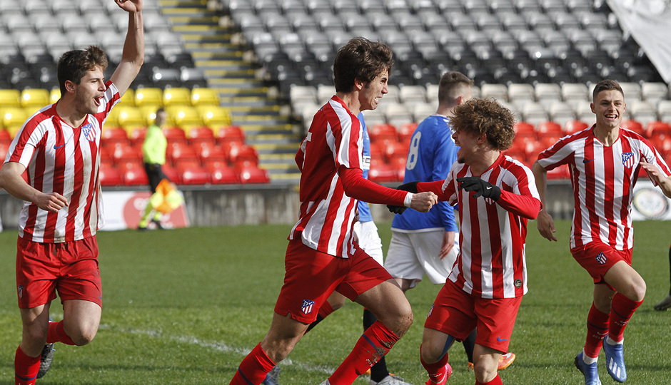 Temp. 19-20 | UEFA Youth League | Rangers - Atlético de Madrid | Celebración Lama
