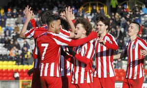Temp. 19-20 | UEFA Youth League | Rangers - Atlético de Madrid | Celebración Qujntana