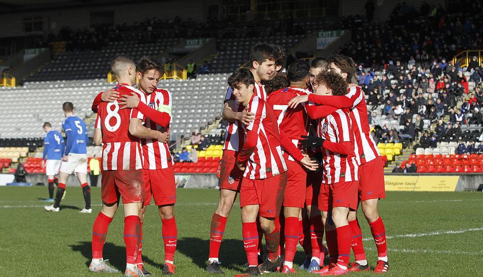 Temp. 19-20 | UEFA Youth League | Rangers - Atlético de Madrid | Celebración