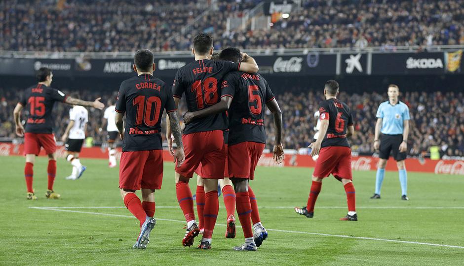 Temp. 19-20 | Valencia - Atlético de Madrid | Celebración Thomas